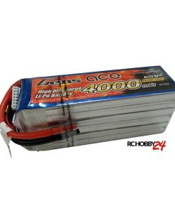 Gens ace 4000mAh 22.2V 60C 6S1P Lipo Battery Pack - Helicopter - Airplane - RcHobby24.com