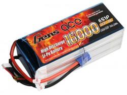 Gens ace 16000mAh 22.2V 15/30C 6S1P Lipo Battery Pack - Multirotor - RcHobby24