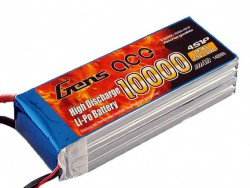 Gens ace 10000mAh 14.8V 25/50C 4S1P Lipo Battery Pack - Helicopter - Airplane - Multirotor - RcHobby24
