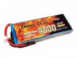 Gens ace 9000mAh 22.2V 25C 6S1P Lipo Battery Pack for Cinestar - RcHobby24