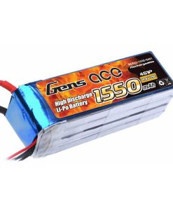 Gens ace 1550mAh 14.8V 25C 4S1P Lipo Battery Pack - RcHobby24