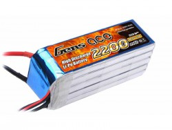 Gens ace 2200mAh 18.5V 25C 5S1P Lipo Battery Pack - RcHobby24