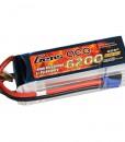 Gens ace 6200mAh 22.2V 25C 6S1P Lipo Battery Pack - Align Trex, GAUI - RcHobby24