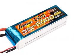 Gens ace 6000mAh 11.1V 35C 3S1P Lipo Battery - RcHobby24