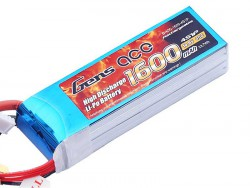 Gens ace 1600mAh 14.8V 40C 4S1P Lipo Battery Pack - RcHobby24