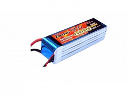 Gens ace 4000mAh 22.2V 45C 6S1P Lipo Battery Pack - Align Trex, GAUI - RcHobby24