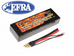Gens ace 7000mAh 7.4V 50C 2S2P HardCase LiPo Battery 10# EFRA Approved - RC Car - RcHobby24