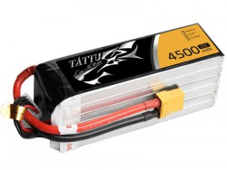 TATTU 4500mAh 22.2V 25/50C 6S1P Lipo Battery Pack - Helicopter - UAV Multirotor - RcHobby24