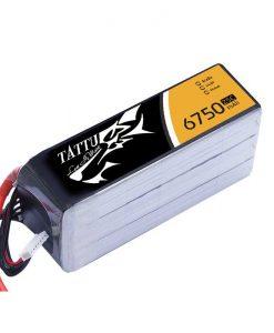 TATTU 6750mAh 14.8V 25/50C 4S1P Lipo Battery Pack - Helicopter - UAV Multirotor - RcHobby24