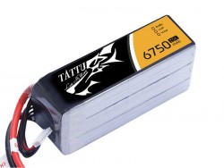 TATTU 6750mAh 14.8V 25/50C 4S1P Lipo Battery Pack - Helicopter - UAV Multirotor - RcHobby24