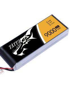 Tattu 9000mAh 14.8V 25/50C 4S1P Lipo Battery Pack - UAV Multirotor - RcHobby24