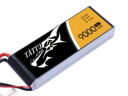 Tattu 9000mAh 14.8V 25/50C 4S1P Lipo Battery Pack - UAV Multirotor - RcHobby24