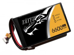 TATTU 6600mAh 14.8V 35C 4S2P Flat Pack - Multirotors - RcHobby24