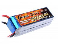 Gens ace 1800mAh 14.8V 25C 4S1P Lipo Battery Pack - Heli - RcHobby24