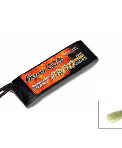 Gens ace 2200mAh 7.4V 25C 2S1P Airsoft Lipo Battery Pack for Airsoft Guns - RcHobby24