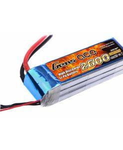 Gens ace 2600mAh 11.1V 25C 3S1P Lipo Battery Pack - RcHobby24