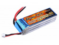 Gens ace 2600mAh 11.1V 25C 3S1P Lipo Battery Pack - RcHobby24