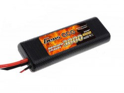 Gens ace 3000mAh 7.4V 25C 2S1P HardCase Lipo Battery 8# - EFRA Approved - RC Car - RcHobby24