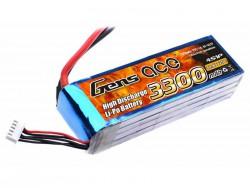 Gens ace 3300mAh 14.8V 25C 4S1P Lipo Battery Pack - DEAN-T - Align Trex, GAUI - RcHobby24