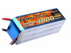 Gens ace 4000mAh 22.2V 25C 6S1P Lipo Battery Pack - Align Trex, GAUI - RcHobby24