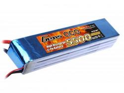 Gens ace 5500mAh 14.8V 25C 4S1P Lipo Battery Pack - Align Trex, GAUI - RcHobby24