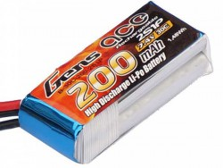 Gens ace 200mAh 7.4V 30C 2S1P Lipo Battery Pack - F3P Indoor planes, Nano CPX Helicopter - RcHobby24