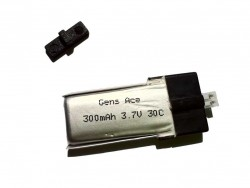 Gens ace 300mAh 30C 1S1P Lipo Battery Pack - MJX R/C, Blade, Align, Walkera - RcHobby24