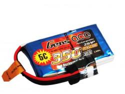 Gens ace 350mAh 7.4V 30C 2S1P Lipo Battery Pack - Align Trex, Walkera - RcHobby24