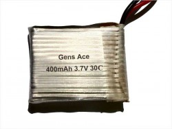Gens ace 400mAh 3.7V 30C 1S2P Lipo Battery Pack - Small Helicopter - RcHobby24