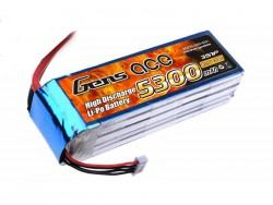 Gens ace 5300mAh 11.1V 30C 3S1P Lipo Battery Pack - Airplane, Boat - RcHobby24