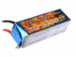 Gens ace 5300mAh 14.8V 30C 4S1P Lipo Battery Pack - Align Trex, GAUI - RcHobby24