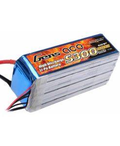Gens ace 5300mAh 22.2V 30C 6S1P Lipo Battery Pack - Align Trex, GAUI - RcHobby24