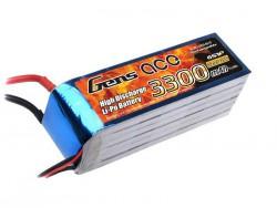 Gens ace 3300mAh 22.2V 35C 6S1P Lipo Battery Pack - Align Trex, Goblin, GAUI - RcHobby24
