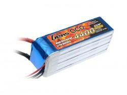 Gens ace 4400mAh 22.2V 35C 6S1P Lipo Battery Pack - Align Trex, Goblin, GAUI - RcHobby24