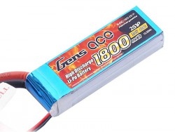 Gens ace 1800mAh 7.4V 40C 2S1P Lipo Battery Pack - RcHobby24