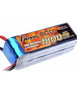 Gens ace 1800mAh 14.8V 40C 4S1P Lipo Battery Pack - Heli, Airplane, Jet - RcHobby24