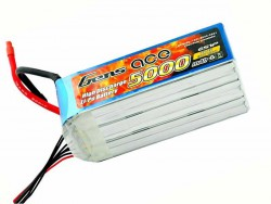 Gens ace 5000mAh 22.2V 60/120C 6S1P Lipo Battery Pack - Helicopter, Airplane - RcHobby24