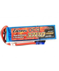 Gens ace 3700mAh 22.2V 60C 6S1P Lipo Battery Pack - Helicopter - Airplane - RcHobby24