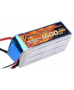 Gens Ace 1600mAh 22.2V 40C 6S1P Lipo Battery Pack - DEAN-T - RcHobby24