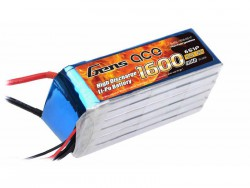 Gens Ace 1600mAh 22.2V 40C 6S1P Lipo Battery Pack - DEAN-T - RcHobby24