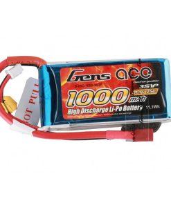 Gens ace 1000mAh 11.1V 25C 3S1P Lipo Battery Pack - RcHobby24