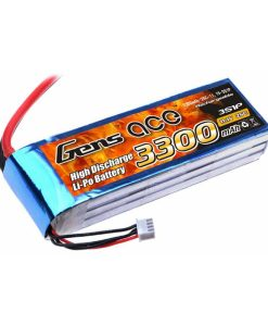 Gens ace 3300mAh 11.1V 25C 3S1P Lipo Battery Pack - DEAN-T - Airplane, Boat - RcHobby24