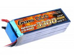 Gens ace 3300mAh 18.5V 25C 5S1P Lipo Battery Pack - DEAN-T - Align Trex, GAUI - RcHobby24