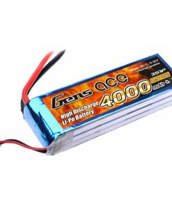 Gens ace 4000mAh 11.1V 25C 3S1P Lipo Battery Pack - DEAN-T -Airplane, Boat - RcHobby24