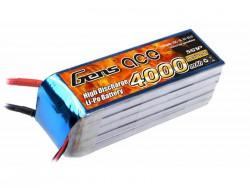 Gens ace 4000mAh 18.5V 25C 5S1P Lipo Battery Pack - DEAN-T - Align Trex, GAUI - RcHobby24