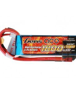 Gens ace 1800mAh 11.1V 40C 3S1P Lipo Battery Pack - Heli , Airplane - RcHobby24
