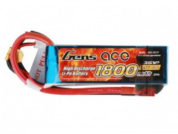 Gens ace 1800mAh 11.1V 40C 3S1P Lipo Battery Pack - Heli , Airplane - RcHobby24