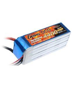 Gens ace 4400mAh 22.2V 45C 6S1P Lipo Battery Pack - DEAN-T - Align Trex 500, Goblin 500, GAUI 500 - RcHobby24
