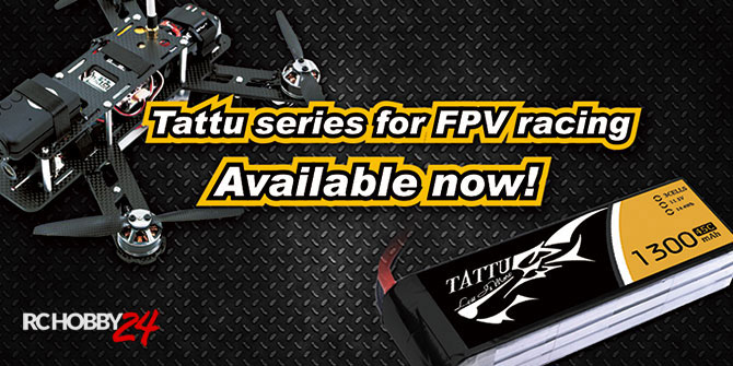 TATTU for FPV Racing Multirotors - 1300mAh - RcHobby24