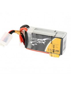 TATTU 1550mAh 14.8V 45C 4S1P Lipo Battery Pack - FPV Race Multirotors - XT60 - RcHobby24